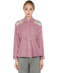 Antonio Marras - Embellished Striped Cotton Shirt - Lyst