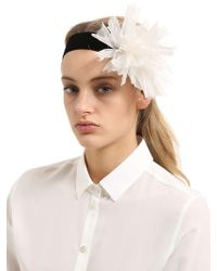 Scha - Flower Big V Stretch Velvet Headband - Lyst