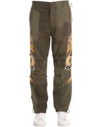 Maharishi - Dragons Patchwork Cotton Pants - Lyst