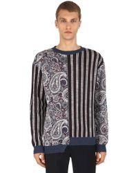 Antonio Marras - Linen & Cotton Jacquard Knit Jumper - Lyst