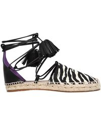 DSquared² - 20mm Animalier & Leather Espadrilles - Lyst