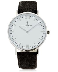 KAPTEN & SON - 40mm Vintage Leather Watch - Lyst