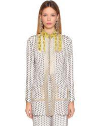 Etro - Printed Silk Twill Jacket - Lyst