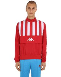 Charm's - Kappa Striped Anorak Sweatshirt - Lyst