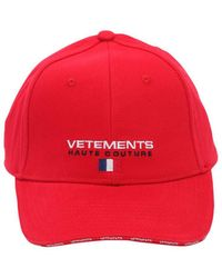 Vetements - Logo-embroidered Canvas Cap - Lyst