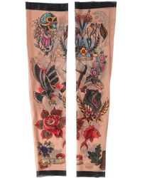 DSquared² - Tattoo Printed Nylon Tulle Sleeves - Lyst
