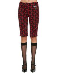 Prada - Jacquard Bermuda Shorts - Lyst