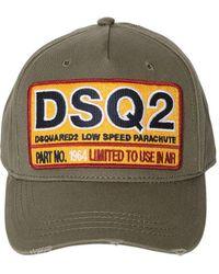 DSquared² - Cotton Canvas Baseball Hat - Lyst