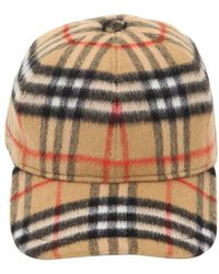 6677df35460 Burberry Cotton Trilby Hat in Natural for Men - Lyst