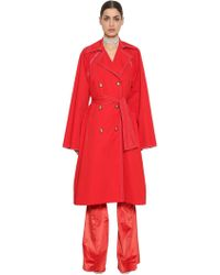 Nina Ricci - Stretch Cotton Poplin Coat - Lyst