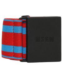 MSGM - Cintura In Webbing Con Fibbia Logo - Lyst