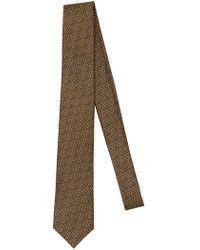 Versace - 7cm Greek Motif Silk Jacquard Tie - Lyst