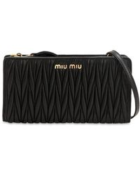 Miu Miu - Quilted Leather Crossbody Bag - Lyst