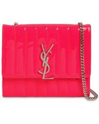 10dfb96b Saint Laurent Camera Monogram Leather Belt Bag in Pink - Lyst