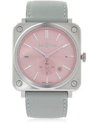 Bell & Ross - Brs Quartz Pink Steel Watch - Lyst