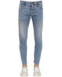 DSquared² - 16cm Sexy Twist Cotton Denim Jeans - Lyst