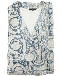 Versace - Bavelet Long Satin Robe - Lyst