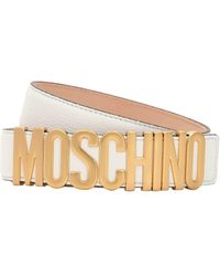 Moschino - Ceinture En Cuir Avec Logo - Lyst 3dcbfe12d76
