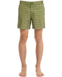 Danward - Palm Printed Nylon Swim Shorts - Lyst