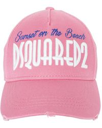 DSquared² - On The Beach Embroidered Canvas Hat - Lyst