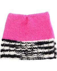 Missoni - Wool Blend Hat W/ Black & White Edge - Lyst