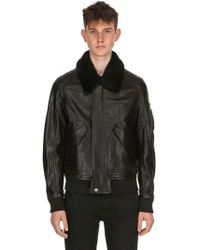 Belstaff - Arne Leather Aviator Jacket - Lyst