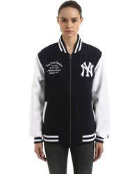 KTZ - Ny Yankees Wool Blend Varsity Jacket - Lyst