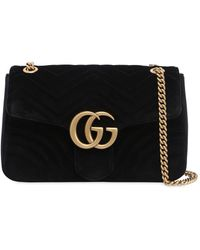 Gucci - Medium Gg Marmont 2.0 Velvet Bag - Lyst