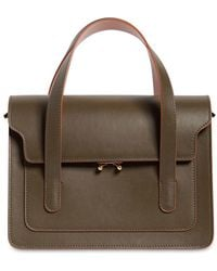 Marni - Trunk Leather Top Handle Bag - Lyst
