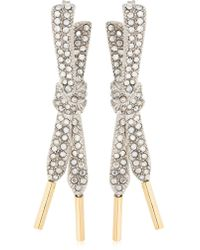 Schield - Laces Earrings With Swarovski Crystal - Lyst
