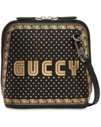 Gucci - Guccy Leather Shoulder Bag - Lyst
