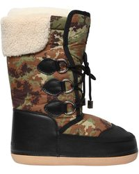 DSquared² | Camouflage Nylon & Faux Leather Boots | Lyst