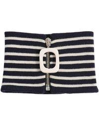 JW Anderson - Stripe Wool Rib Knit Neckband W/ Zip - Lyst