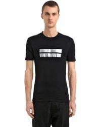 Neil Barrett - Slim Fit Metallic Print Jersey T-shirt - Lyst
