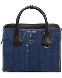 DSquared² - Medium Deana Denim Top Handle Bag - Lyst
