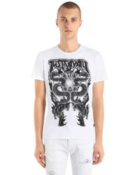 Just Cavalli - Gothic Dragons Cotton Jersey T-shirt - Lyst