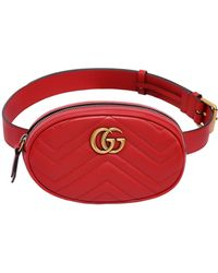 cde5919494d Lyst - Gucci Small Gg Marmont Belt Pack W  Appliqués in White