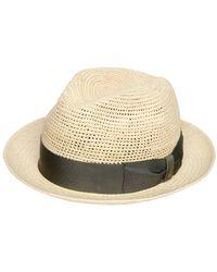 Borsalino - Cappello Panama Medio In Paglia - Lyst 767012dff0fa