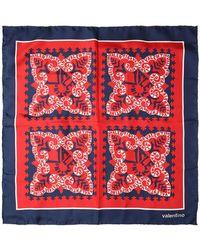 Valentino - Printed Silk Twill Scarf - Lyst