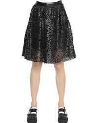 Karl Lagerfeld | Laser-cut Faux Leather Skirt | Lyst