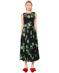 Vivetta - Bouquet Printed Cotton Poplin Dress - Lyst