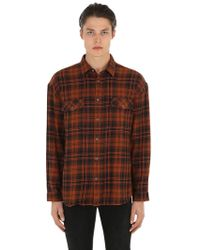 The Kooples - Camicia In Cotone Tartan Distressed - Lyst