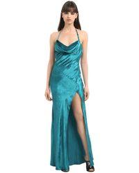 Attico - Letizia Long Velvet Slip Dress - Lyst