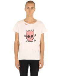 Garçons Infideles - Bart Skull Ripped Jersey T-shirt - Lyst