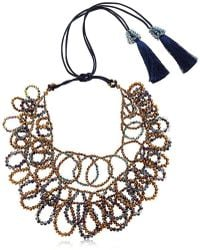 Night Market - Flat Circles Beaded Necklace - Lyst