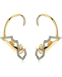 Schield - Geometric Sculpture Earrings - Lyst