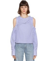Tommy Hilfiger - Ithaca Striped Open Shoulder Cotton Top - Lyst