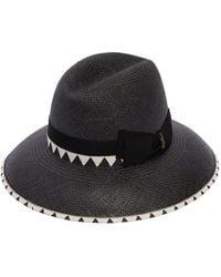 Borsalino - Claudette Medium Brim Straw Hat - Lyst