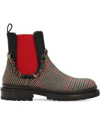 L'Autre Chose - 20mm Wool Price Of Wales Chelsea Boots - Lyst