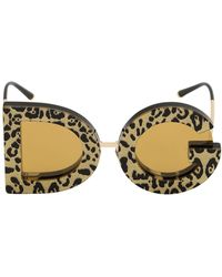 6b9f1c4ae13a Lyst - Dolce   Gabbana Leopard Print Sunglasses in Pink